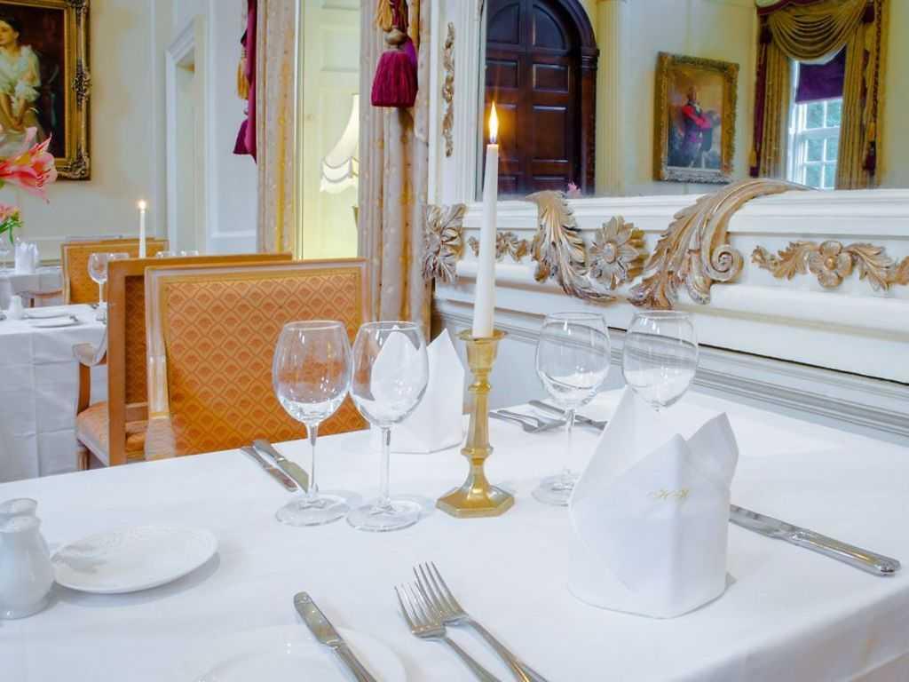 Menu restaurant, Hintlesham Hall
