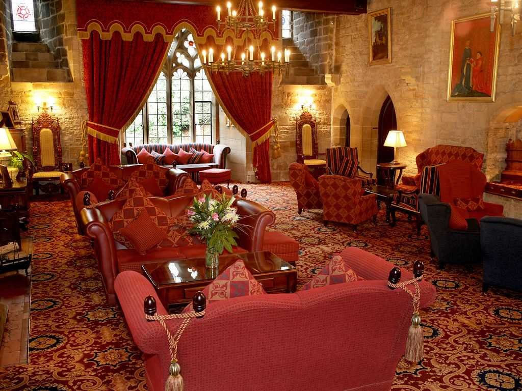 The Drawing Room restaurant, Langley Castle