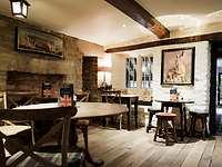 Bear Bar restaurant, The Bear of Rodborough Hotel